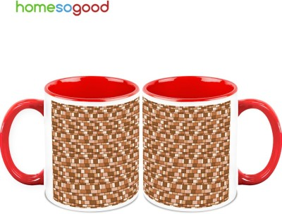 HomeSoGood Super Mario Brick Pattern Ceramic Mug
