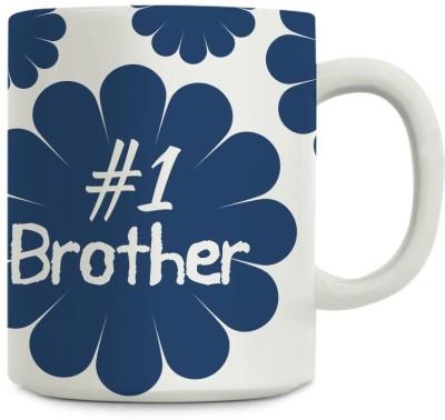 Gifts By Meeta Number 1 Brother Rakhi Gift Ceramic Mug