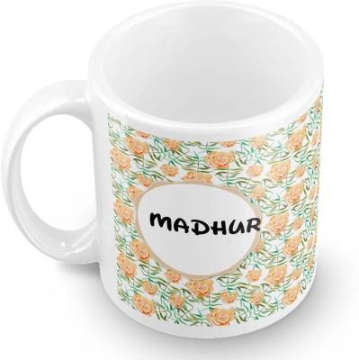posterchacha Madhur Floral Design Name  Ceramic Mug
