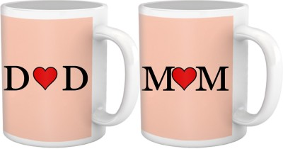 Tiedribbons Heart Touching Mom And Dad Gift For Parents Set Of 2 Ceramic Mug