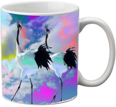 Romanshopping bird crane  Bone China Mug