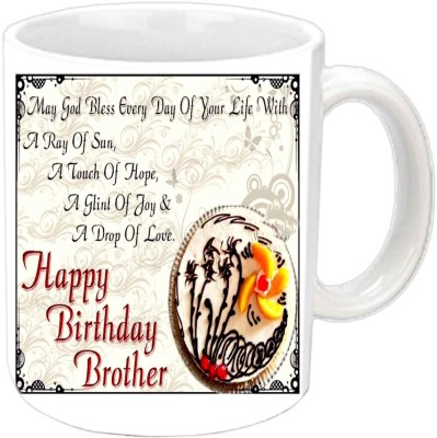 Jiya Creation1 cake berrys b,day white mug Ceramic Mug