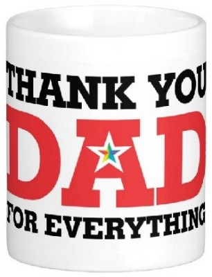 Easyhome Thank You Dad for Everythings Ceramic Mug