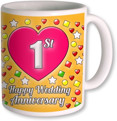 Heywords 1st Wedding Anniversary  Ceramic Mug