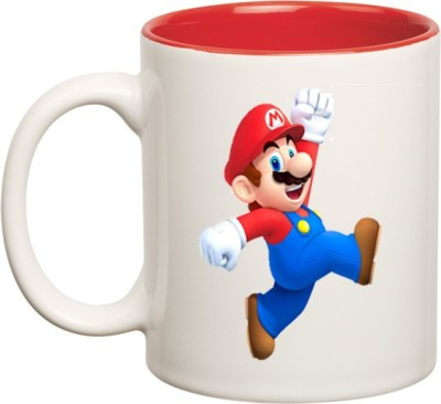 Huppme Super Mario Inner Red  Ceramic Mug