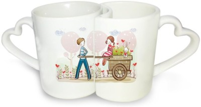 Ucard Love Cart Couple Set Bone China, Ceramic, Porcelain Mug