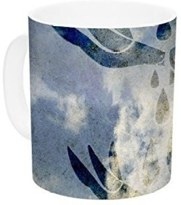 Kess InHouse InHouse iRuz33 Doves Cry Ceramic Coffee , 11 oz, Multicolor Ceramic Mug