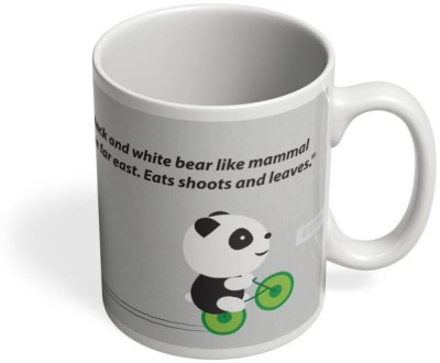 PosterGuy Define A Panda Panda, Cute, Hug, Minimal, Notion ink, Love, Adorable, Girl, Black, White, Green, China, Innocent, Define, Definition, Grammar, Dictionary, Word, Play, Pun Deep, Black, White Ceramic Mug