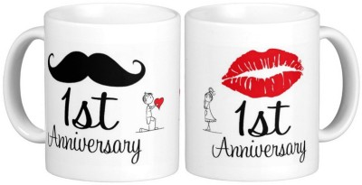 Exoctic Silver 1st Marriage Anniversary Ceramic Mug