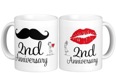 Exoctic Silver 2nd Marriage Anniversary Ceramic Mug
