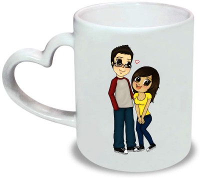 Huppme Now Forever Heart Handle  Ceramic Mug