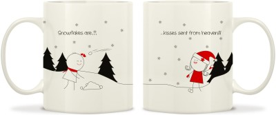 TwoGud Snowflakes Are Kisses Sent From Heaven Bone China Mug