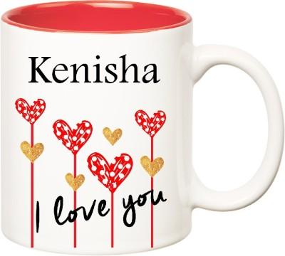 Huppme I Love You Kenisha Inner Red  (350 ml) Ceramic Mug