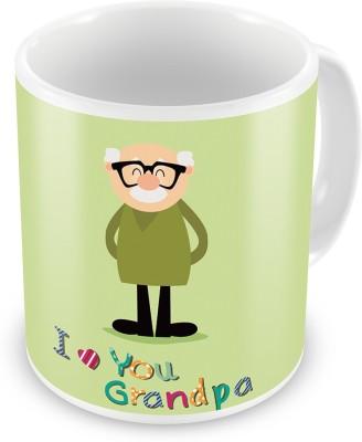 Indian Gift Emporium I love You Grandpa Print Fancy Designer Coffee  511 Ceramic Mug