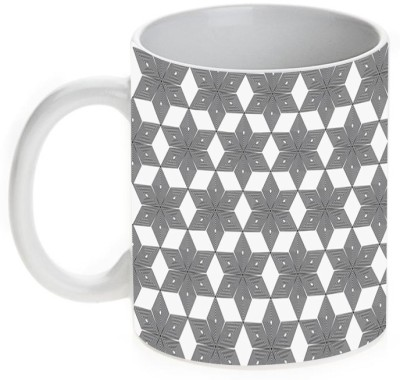 Mugwala Black & White Combination B Designer Ceramic Mug