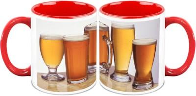 HomeSoGood Drinks Beer Stay Healthy Ceramic Mug