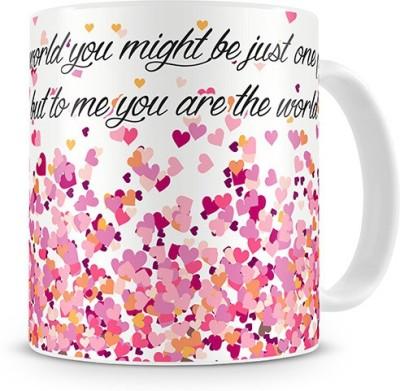 Print Haat Love - You, My World Ceramic Mug