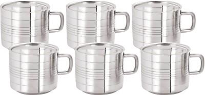 Aagam Regular T.T Tea Stainless Steel Mug(80 ml, Pack of 6)
