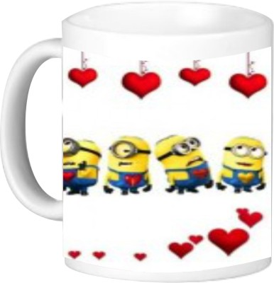 Giftworlds minion love ceramic mug Best Gifts For Husband Wife Boyfriend , Birthdays Anniversary Valentine'S Day Ceramic Mug