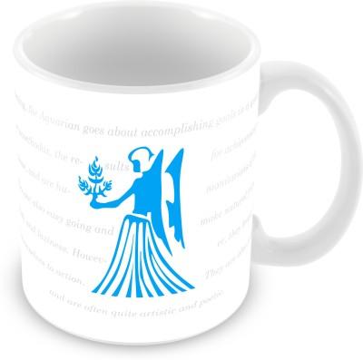 Prinzox Aquarius Zodiac sign printed Ceramic Mug