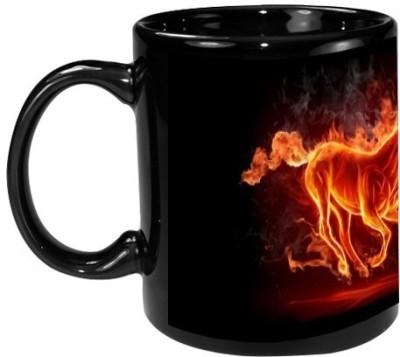 Onlineworld Black Coffee  - Horse Art Ceramic Mug