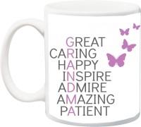 iZor Gift for Grandmother/Grandma/Nani/Dadi On Birthday/Special Occasion;great caring happy inspire admire amazing patient printed Ceramic Mug