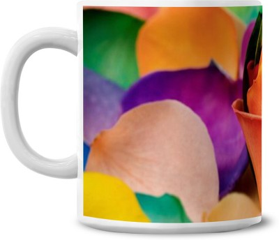 Lovely Collection Multicolour Petals Ceramic Mug