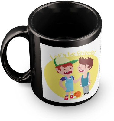 posterchacha Lets Be Friends Black Tea And Coffee Gift For Best Friend And Loved One Ceramic Mug