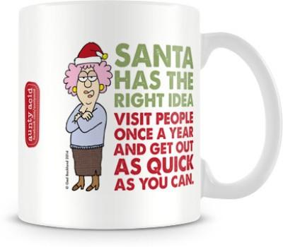 Tashanstreet Aunty Acid - Santa's idea Ceramic Mug