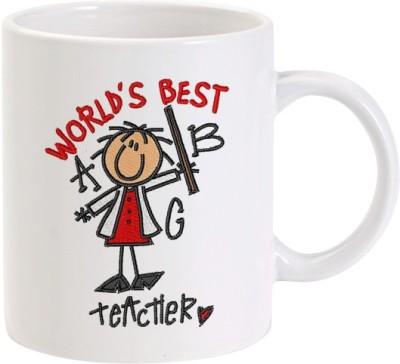 Lolprint 2 Worlds Best Teacher Ceramic Mug