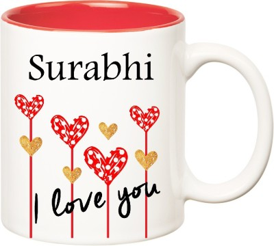 Huppme I Love You Surabhi Inner Red  (350 ml) Ceramic Mug