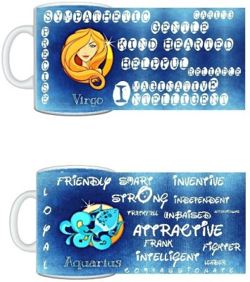 CreativesKart Zodiac Virgo (M) Aquarius (F) Compatibility  Ceramic Mug