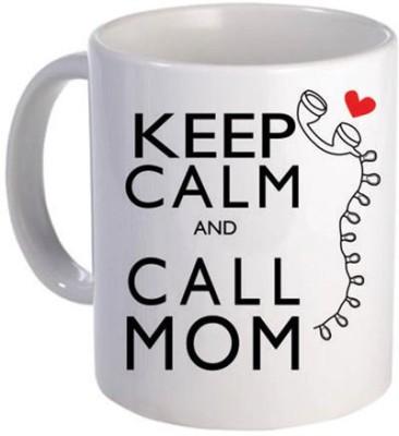 Giftsmate Keep Calm And Call Mom Ceramic Mug