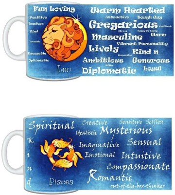 CreativesKart Zodiac Leo (M) Pisces (F) Compatibility  Ceramic Mug