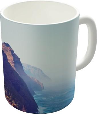Dreambolic Hawaii Mountains Along The Ocean Ceramic Mug