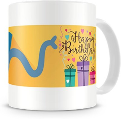 Print Haat Elephant Happy Birthday Ceramic Mug