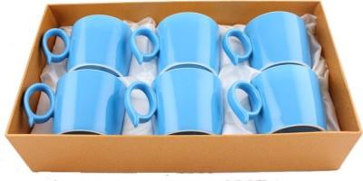 White Gold 33206 - Blue Porcelain Mug