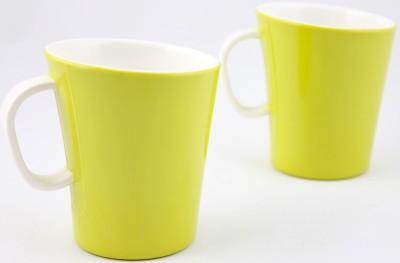 Hi Luxe Dbl Clr Melamine 42249 Dual - Green Melamine Mug