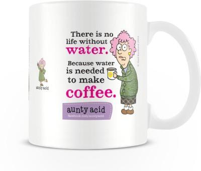 Tashanstreet Aunty Acid No Life Without Water Ceramic Mug