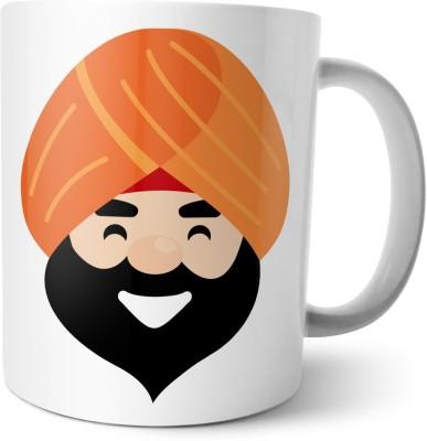Chiraiyaa Happy Raksha Bandhan - Rakhi - Only Veerji da  Ceramic Mug