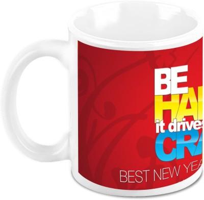 HomeSoGood Stay Happy In New Year Ceramic Mug