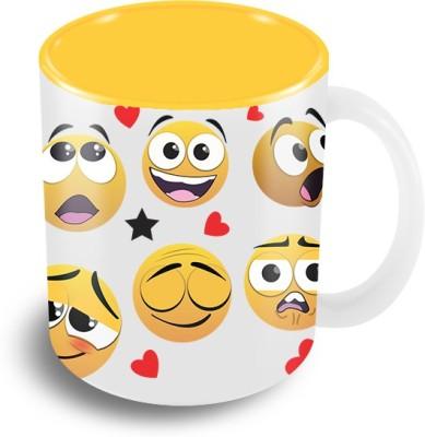 Thecrazyme Mixed Emotions Emoticons Coffee Ceramic Mug