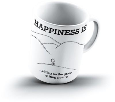 Ucard Happiness Is1915 Bone China, Ceramic, Porcelain Mug