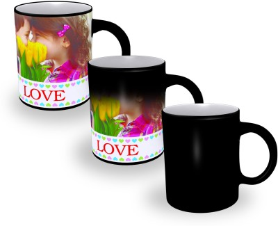 AM Creations Magic Black Ceramic Mug