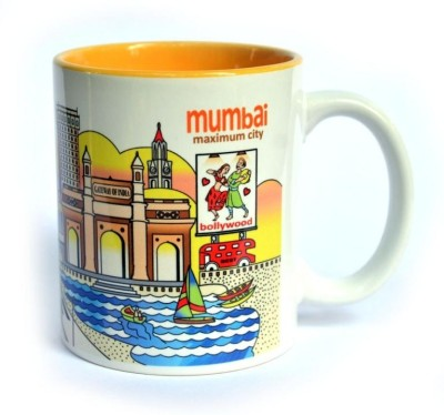 Indiavibes Coffee & Tea Mumbai Theme Printed Ceramic Ceramic Mug
