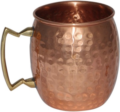 Dakshcraft Handmade Pure Copper Hammered Moscow Mule Copper Mug