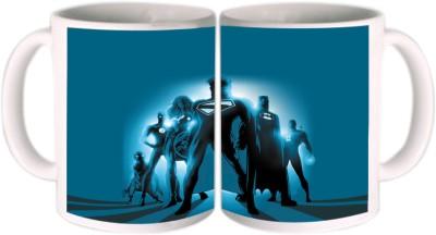Shopkeeda Super Heros In Blue Ceramic Mug