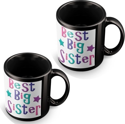 posterchacha Best Big Sister In The World Award Black Tea And Coffee To Gift To Sibling Sister And Brother Ceramic Mug