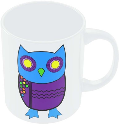 PosterGuy The Quirky Blue Owl Quirky Ceramic Mug