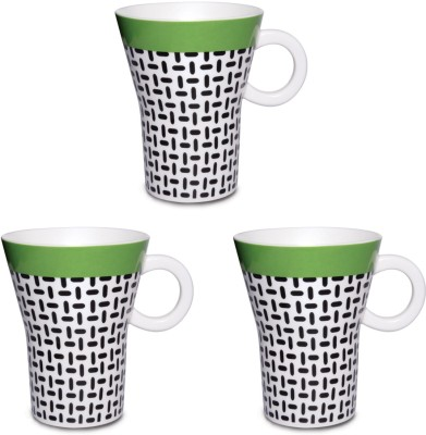 Kudos Twill Green (3 Pcs) Ceramic Mug